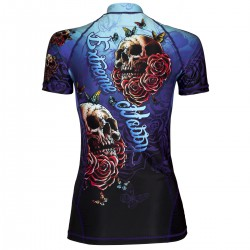 Short sleeve rashguard women SKULL 2