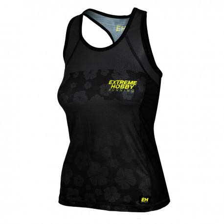 Tank top running women FLOWERS