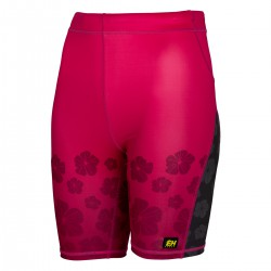 Women's running leggings short FLOWERS