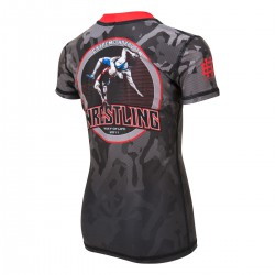 Short sleeve rashguard kids WRESTLING 2