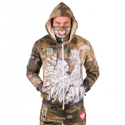 Hooded zip POLAND CAMO