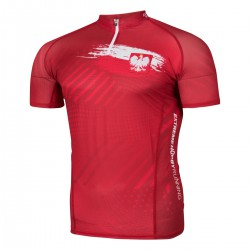 Men's running zipped shirt POLSKA PRIME
