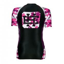 Short sleeve rashguard women PINK TEDDY BEAR