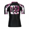 Short sleeve rashguard KIDS PINK TEDY BEAR