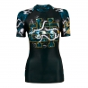 Short sleeve rashguard women SKULL ROSE