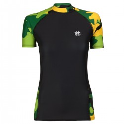 Short sleeve rashguard damski WORKOUT green