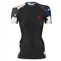Short sleeve rashguard women WORKOUT blue