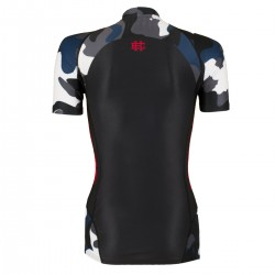 Short sleeve rashguard damski WORKOUT blue