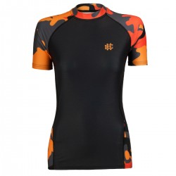 Short sleeve rashguard women WORKOUT orange