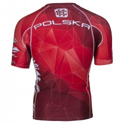 Short sleeve rashguard POLSKA red