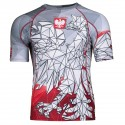 Short sleeve rashguard POLSKA g/red