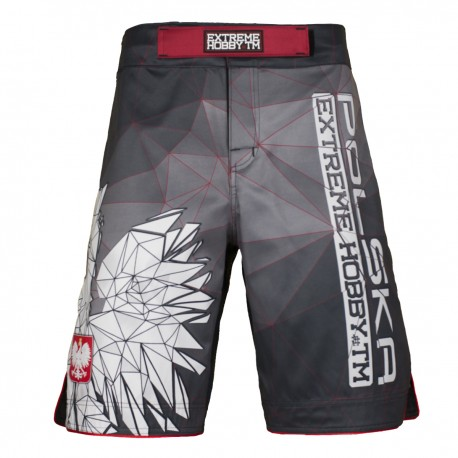 Grappling shorts POLSKA grey