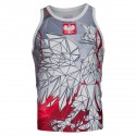 Tank top rashguard POLSKA grey-red