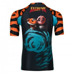 Short sleeve rashguard kids TIGRESS