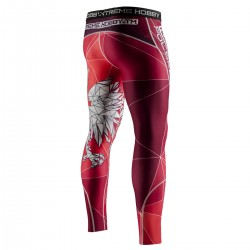 Leggings for men POLSKA red