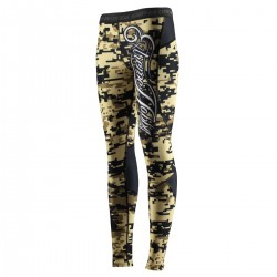 Leginsy damskie DIGITAL CAMO sandy