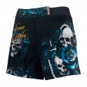 Athletic shorts women SKULL ROSE